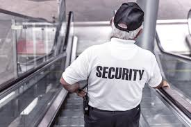 private security guard working